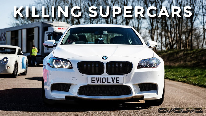 Evolve does Vmax 200 with our F10 M5 vs Hurcan, Huayra, RS6, 675LT