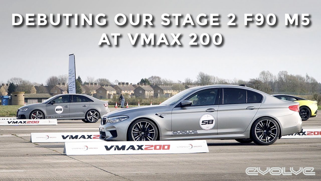 Racing our Stage 2 743bhp Project F90 M5 at VMAX 200