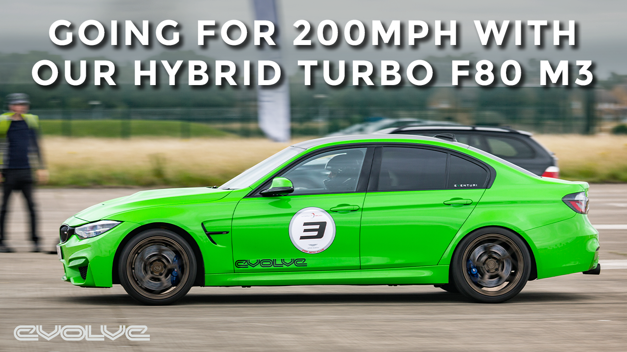 Going for 200mph in our Mosselman Turbo F80 M3