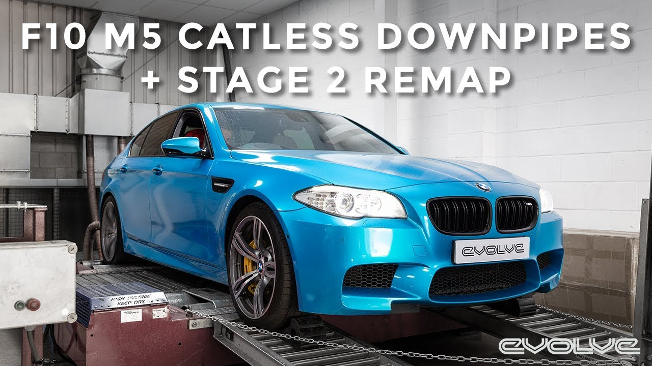 F10 M5 - Evolve Catless Downpipes & Stage 2 Remap