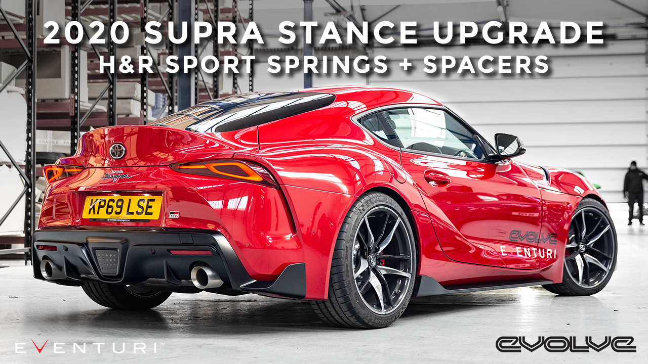 Stance upgrade for our Mk5 Supra! H&R Sport Springs + Spacers