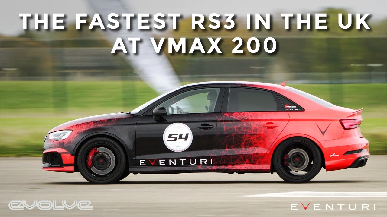 Hitting 211mph in the Eventuri RS3 - UK's Fastest RS3!
