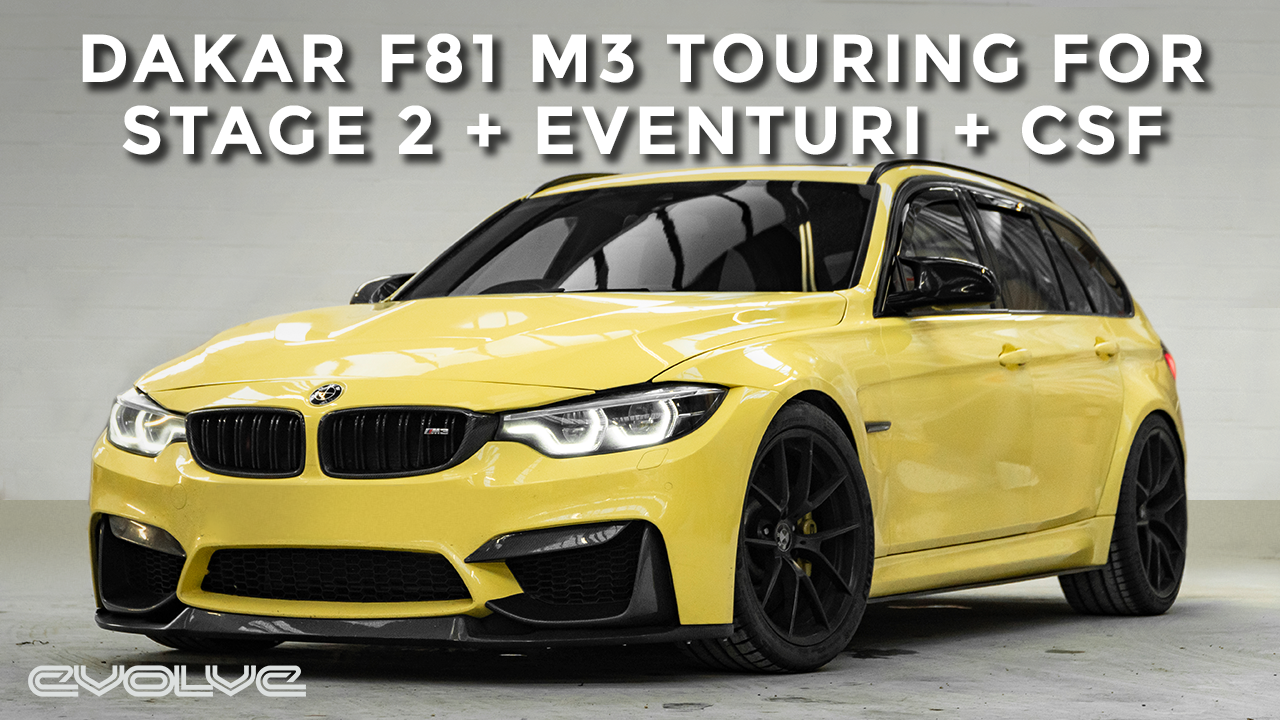 F81 M3 Touring Dakar Yellow - Stage 2 Package + Eventuri + CSF
