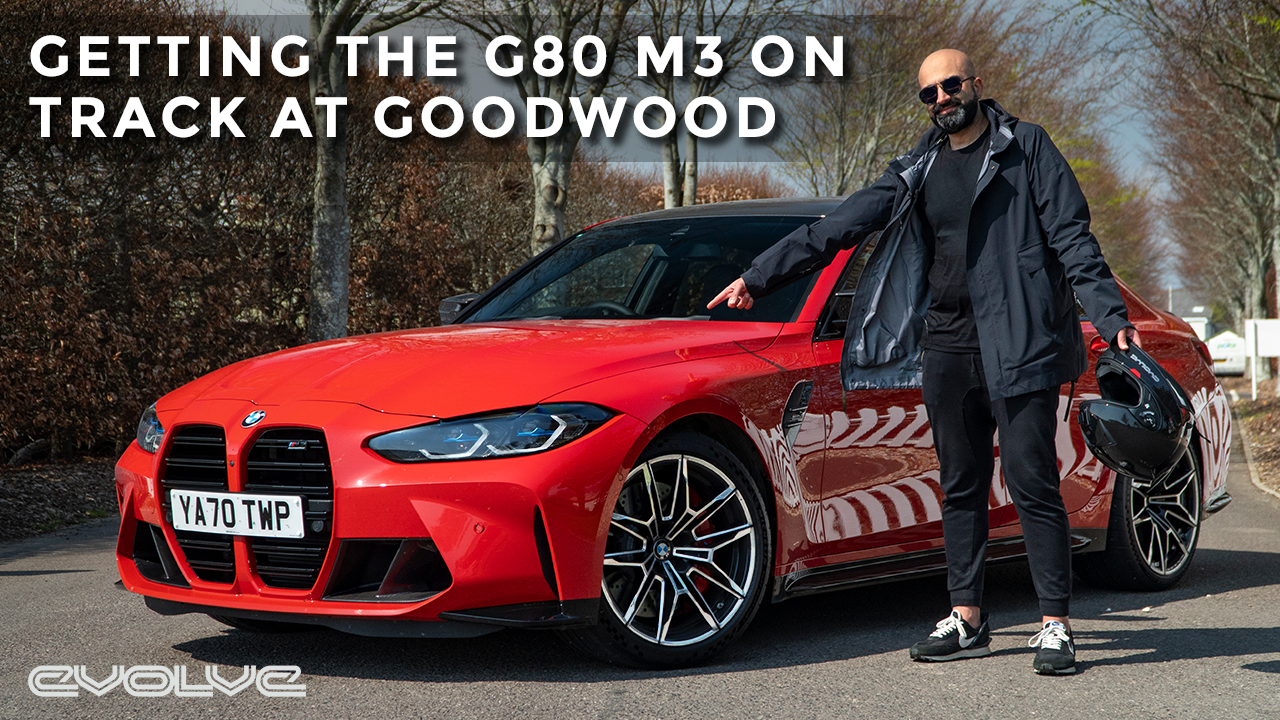 Testing the G80 M3 Competition on the track at Goodwood!