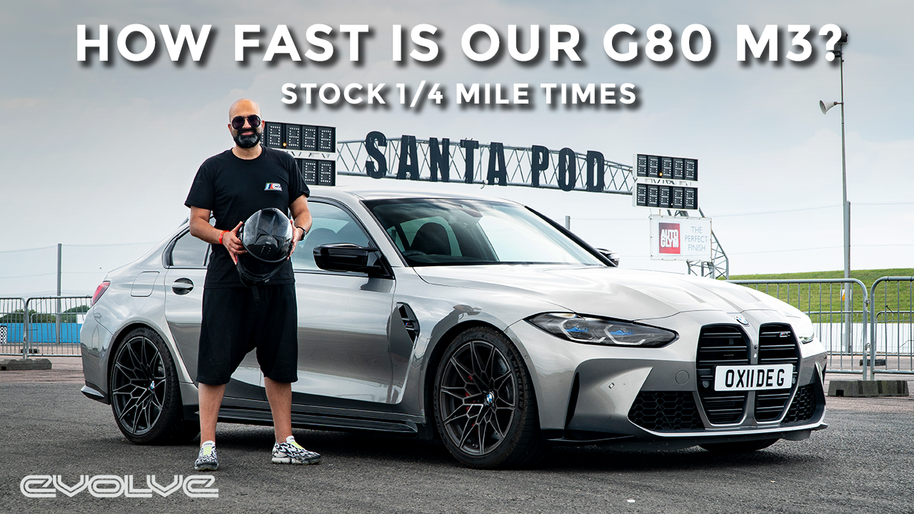 Taking our G80 M3 Competition to the Drag Strip - Stock 1/4 Mile Times + Development